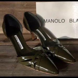 Manolo Blahnik Lillie Heels Pump  D' Orsay 39 - 9